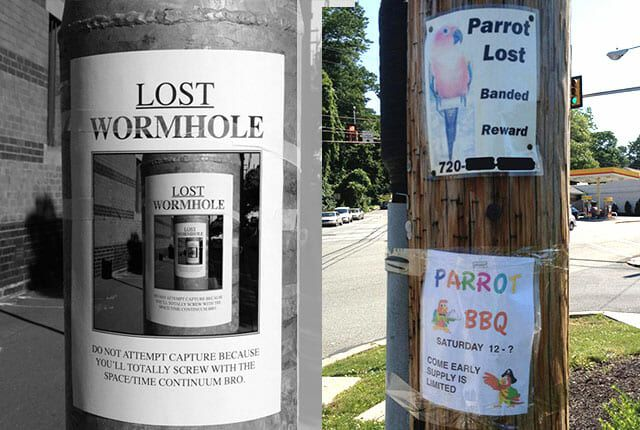 funny lost-and-found flyers