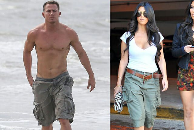 celebrities wearing cargo shorts