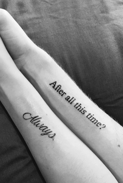 Harry Potter Couples Tattoos