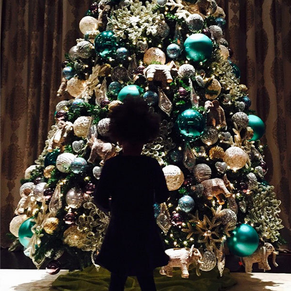 celeb christmas trees