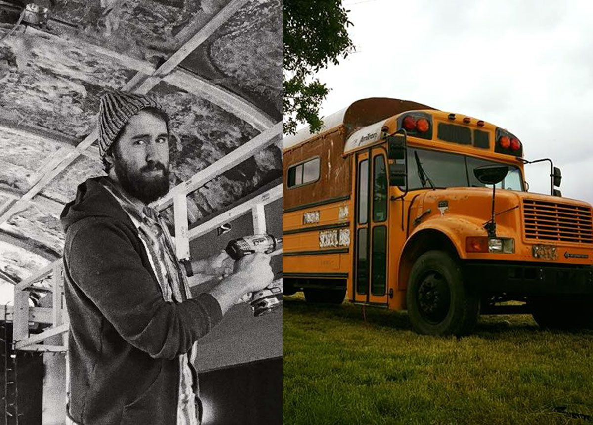 Man built his dream home out of a school bus