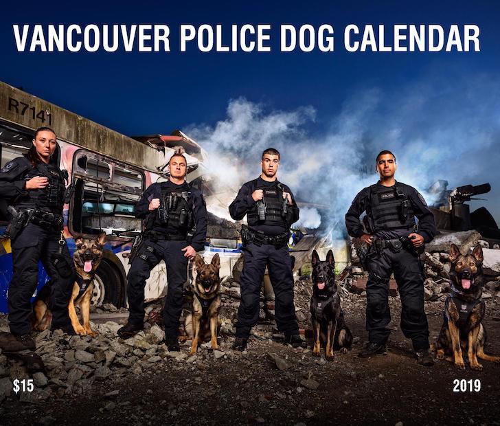 vancouver police dog calendar